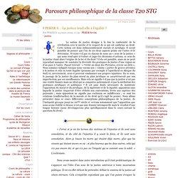 Parcours philosophique de la classe T20 STG