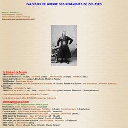 Parcours des régiments d'Infanterie en 14/18 : Les Zouaves