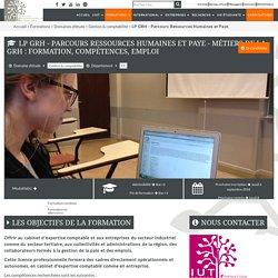 LP GRH - Parcours Ressources Humaines et Paye - IUT de Troyes