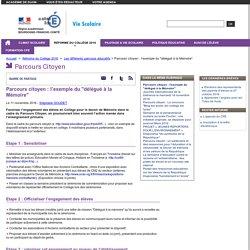 """Parcours citoyen : l'exemple du """"délégué à la Mémoire"""" - CPE - Vie scolaire- Académie de Dijon - aLaUne"""