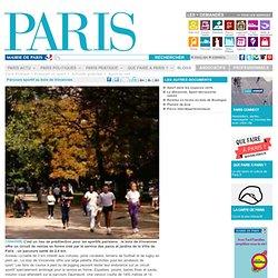 Parcours sportif au bois de Vincennes