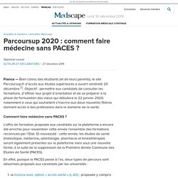 Parcoursup 2020 : comment faire médecine sans PACES ?