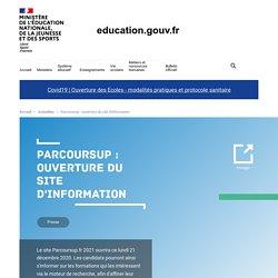 Parcoursup : ouverture du site d'information
