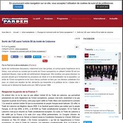 PARDEM.ORG - Sortir de l'UE sans l'article 50 du traité de Lisbonne