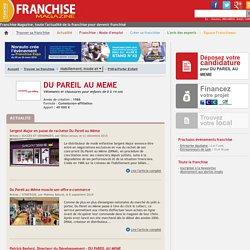 DU PAREIL AU MEME / Franchise Prêt-à-Porter Enfant