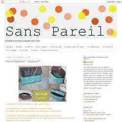 """Sans Pareil: Portefeuille """"couture"""""""