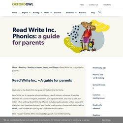 Parent Guide to Read Write Inc. Phonics