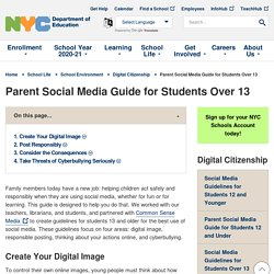 Parent Social Media Guide for Students Over 13