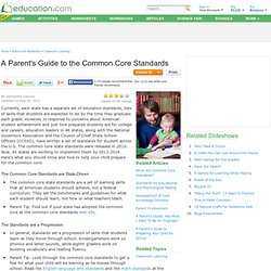 Parents' Guide to the CCSS