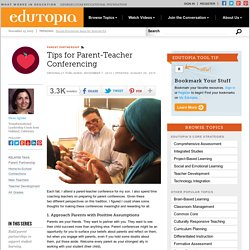 Tips for Parent-Teacher Conferencing