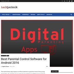 Best Parental Control Software for Android 2016