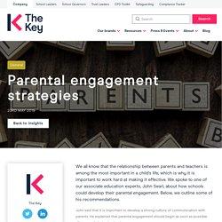 Parental engagement strategies