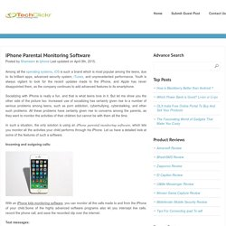 iPhone Parental Monitoring Software