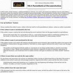 Parenthetical documentation apa