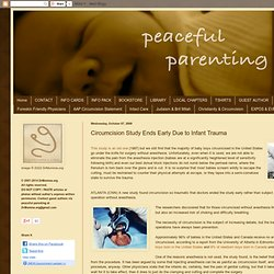 Circumcision Study Ends Early Due to Infant Trauma