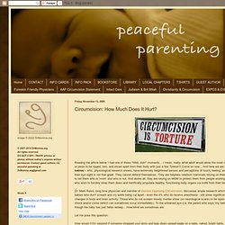 Circumcision: How Much Does It Hurt?