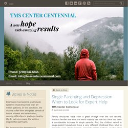 Single Parenting and Depression - When to Look for Expert Help