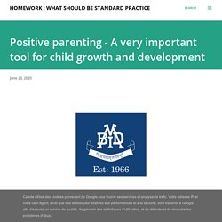 Positive parenting - A very important tool for child growth and development