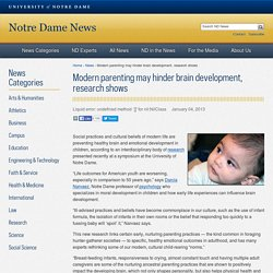 Modern parenting may hinder brain development, research shows