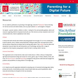 Parenting for a Digital Future – Resources