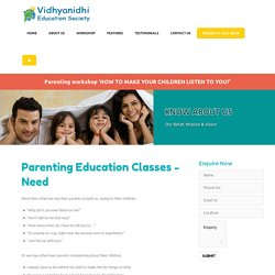 Parenting Education Classes Mumbai