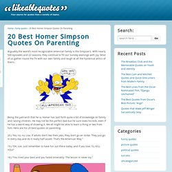 20 Best Homer Simpson Quotes On Parenting