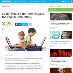 Social Media Parenting: Raising the Digital Generation