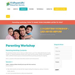Parenting Skills Workshops Mumbai India