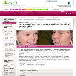 Les droits des parents - Les aménagements du temps de travail pour les salariés de droit privé