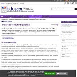 Eduscol - Parents d'élèves - Autorité parentale