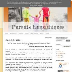 Parents Bienveillants: Au dodo les petits !