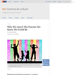 Why We Aren't The Parents We Know We Could Be : 13.7: Cosmos And Culture