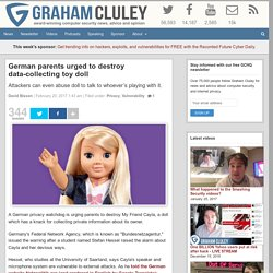 German parents urged to destroy data-collecting toy doll
