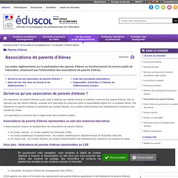 Parents d'élèves - Associations de parents d'élèves