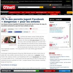 79 % des parents jugent Facebook «dangereux»