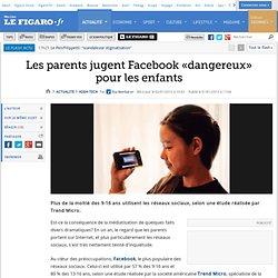 Les parents jugent Facebook «dangereux» pour les enfants