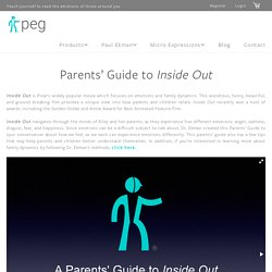 Parents' Guide to Inside Out - Paul Ekman Group, LLC