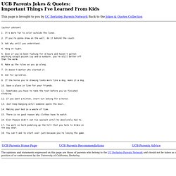 Important Things I've Learned From Kids