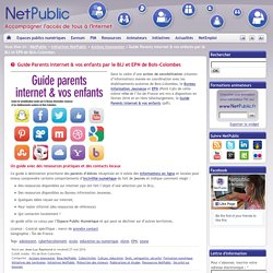 Guide Parents Internet & vos enfants par le BIJ et EPN de Bois-Colombes
