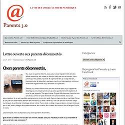 Lettre ouverte aux parents déconnectés