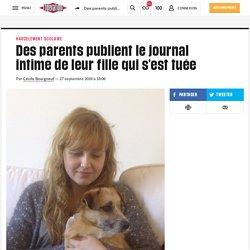 Des parents publient le journal intime de leur fille qui s'est tuée