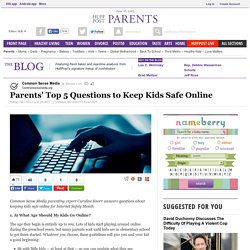 Parents' Top 5 Questions to Keep Kids Safe Online