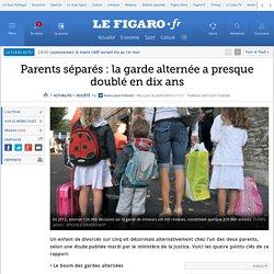 Parents séparés : la garde alternée a presque doublé en dix ans