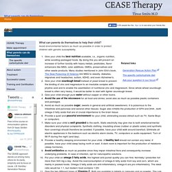 What parents can do themselves - CEASE Therapy