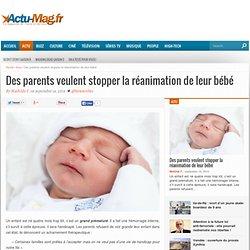 16/09/14 Des parents veulent stopper la réanimation de leur bébé