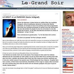 LE DROIT A LA PARESSE (texte intégral).