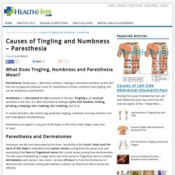 Causes of Tingling and Numbness – Paresthesia