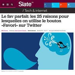 Le fav parfait: les 25 raisons pour lesquelles on utilise le bouton «Favori» sur Twitter