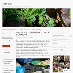 Union parfaite à la Vietnamienne – Canh cà chua đậu hũ