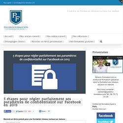 5 étapes pour régler parfaitement ses paramètres de confidentialité sur Facebook en 2015